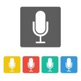 Icona del microfono Immagine Stock Libera da Diritti