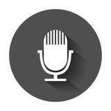 Icona del microfono Fotografia Stock