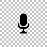 Icona del microfono piana illustrazione vettoriale