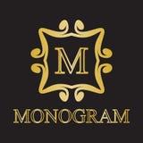 Icona del monogramma Fotografia Stock