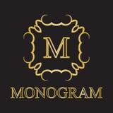 Icona del monogramma Fotografia Stock Libera da Diritti