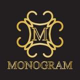 Icona del monogramma Immagini Stock Libere da Diritti
