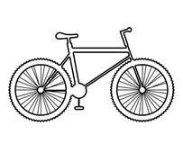 Icona del mountain bike su fondo bianco Fotografia Stock