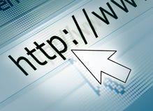 Icona del mouse sul HTTP Fotografia Stock Libera da Diritti