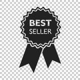 Icona del nastro del best-seller Illustrazione di vettore della medaglia nello stile piano Fotografie Stock