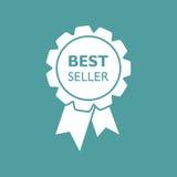 Icona del nastro del best-seller Illustrazione di vettore della medaglia nello stile piano Fotografie Stock Libere da Diritti