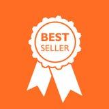 Icona del nastro del best-seller Illustrazione di vettore della medaglia nello stile piano Fotografia Stock Libera da Diritti