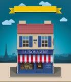 Icona del negozio XXL del formaggio di vettore Immagini Stock