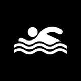 Icona del nuotatore Spiaggia ed illustrazione di vettore dell'icona di vacanza illustrazione vettoriale