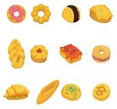Icona del pane del fumetto Fotografie Stock