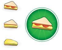 Icona del panino Fotografie Stock Libere da Diritti