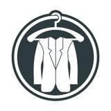 Icona del panno, illustrazione di vettore del rivestimento dell'uomo royalty illustrazione gratis