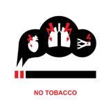 Icona del pericolo del fumo royalty illustrazione gratis