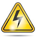 Icona del pericolo di corrente elettrica Fotografia Stock