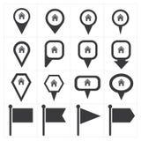Icona del perno di navigazione Fotografie Stock