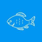 Icona del pesce Fotografia Stock