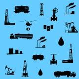Icona del petrolio e del petrolio seamless Fotografie Stock Libere da Diritti