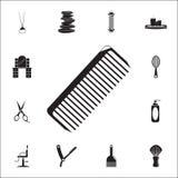 Icona del pettine Insieme dettagliato delle icone del barbiere Segno premio di progettazione grafica di qualità Una delle icone d royalty illustrazione gratis