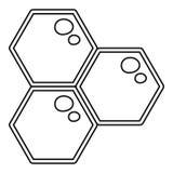 Icona del pettine del miele, stile del profilo illustrazione vettoriale