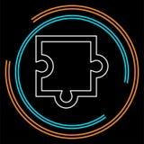 Icona del pezzo di puzzle, illustrazione di puzzle di vettore illustrazione vettoriale