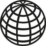 Icona del pianeta Terra del globo illustrazione vettoriale