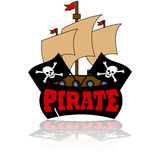 Icona del pirata illustrazione di stock