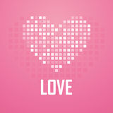 Icona del pixel del cuore, illustrazione di vettore Fotografia Stock