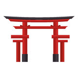 Icona del portone di torii di viaggio del Giappone royalty illustrazione gratis