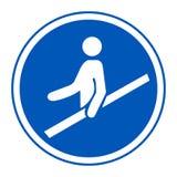 Icona del PPE Isolato del segno di simbolo del corrimano di uso su fondo bianco, illustrazione ENV di vettore 10 royalty illustrazione gratis