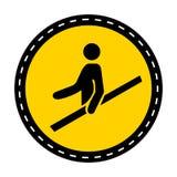 Icona del PPE Isolato del segno di simbolo del corrimano di uso su fondo bianco, illustrazione di vettore royalty illustrazione gratis