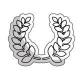 Icona del premio della corona della corona Immagini Stock Libere da Diritti
