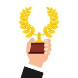 Icona del premio della corona della corona Fotografia Stock