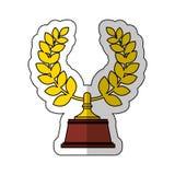 Icona del premio della corona della corona Immagine Stock