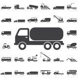 Icona del prodotto chimico del camion illustrazione vettoriale