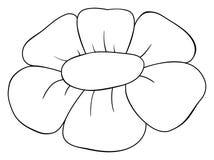 Icona del profilo del fiore Illustrazione di vettore del fiore Libro da colorare per i bambini illustrazione vettoriale