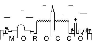 Icona del profilo del Marocco Può essere usato per il web, il logo, il app mobile, UI, UX illustrazione vettoriale