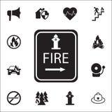 Icona del punto dell'idrante Insieme dettagliato delle icone dell'antifuoco Segno premio di progettazione grafica di qualità Una  illustrazione vettoriale