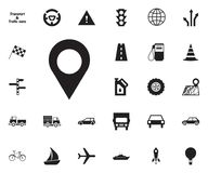 icona del punto di posizione Trasporti l'insieme dell'icona immagini stock