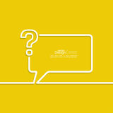 Icona del punto interrogativo Immagine Stock