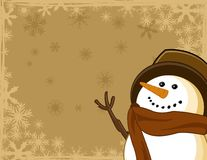 Icona del pupazzo di neve Fotografia Stock