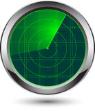 Icona del radar Fotografia Stock Libera da Diritti
