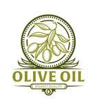 Icona del ramo di ulivo per l'etichetta dell'olio d'oliva royalty illustrazione gratis