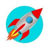 Icona del razzo di spazio Fotografia Stock Libera da Diritti