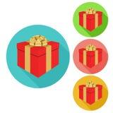 Icona del regalo, illustrazione di vettore Stile piano di progettazione royalty illustrazione gratis