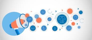 Icona del rivestimento Dall'insieme di compera illustrazione di stock