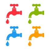 Icona del rubinetto di acqua Immagini Stock