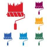 Icona del rullo di pittura Fotografie Stock Libere da Diritti