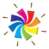 Icona del rullo di vernice Fotografie Stock