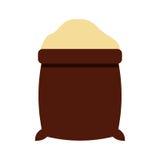 Icona del sacco dello zucchero Immagine Stock