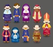 Icona del sacerdote del fumetto Fotografia Stock Libera da Diritti